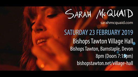 Sarah McQuaid - Bishops Tawton Village Hall