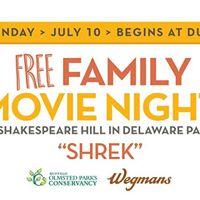 Free Family Movie Night in Delaware Park Shrek