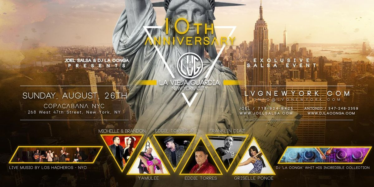LVG 10th Anniversary - Exclusive Salsa Event in NYC
