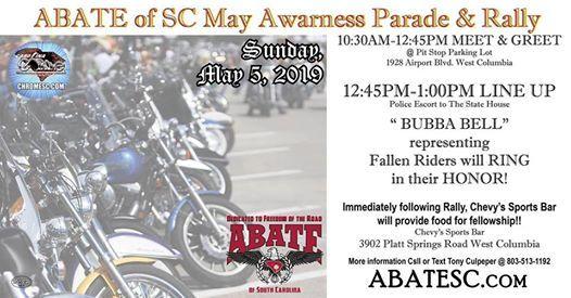 ABATE of SC May Awareness Parade and Rally