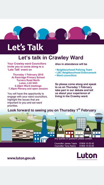 Lets Talk in Crawley ward
