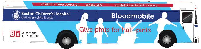 Image result for boston children's hospital bloodmobile images