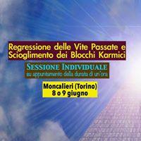 Regressioni delle Vite Passate - 8 o 9 giugno Moncalieri -Torino