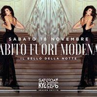 Saturday KYI Club - Abito fuori Modena - 1811