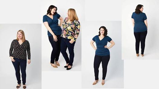 Sewing for curves - Sew the Dartmouth Top