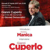 Gianni Cuperlo a Novara
