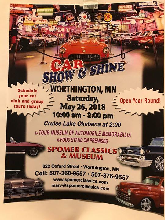 Car Show Shine At Oxford St Worthington MN - Car show mn