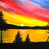 Wasaga Countrylife Cottage &amp RV Resort Painting Night