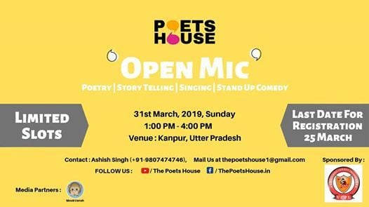 Open Mic Kanpur  31st March 2019