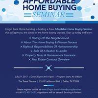 Affordable Home Buying Seminar