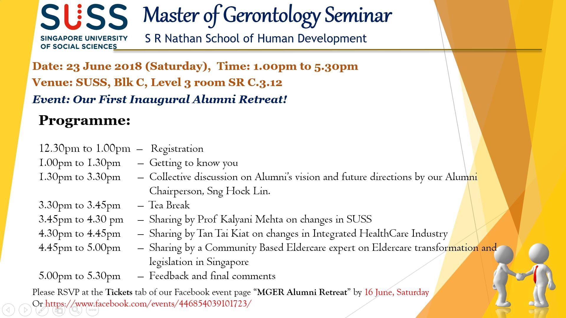 MGER Alumni Retreat
