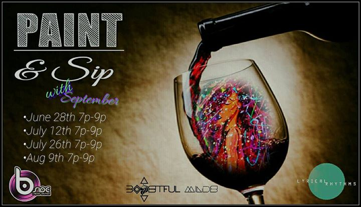 paint sip w september at the b side liquor lounge