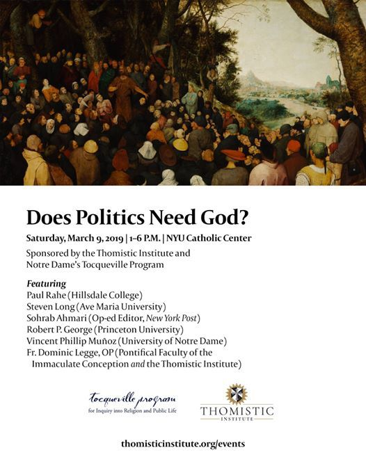 Does Politics Need God A Conference