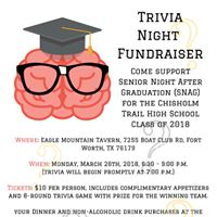 SNAG Trivia Night Fundraiser