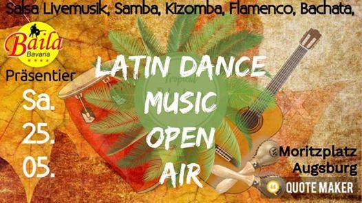 Lateinamerikanische Musik Open Air in Augsburg Tanz im den Mai