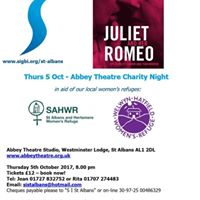 Abbey Theatre Charity Night Thu 5 Oct Juliet and her Romeo
