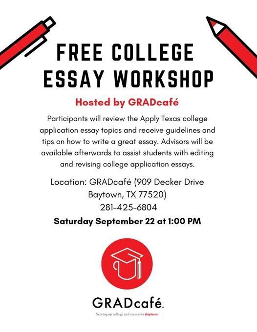 Essay college admission texas