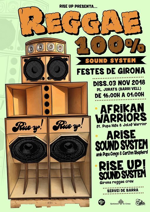 Reggae 100% Sound System Fires 2018 - Afrikan Warriors and