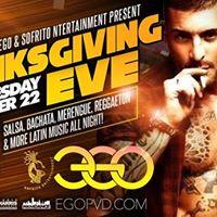 Sazon Latino Thanksgiving Eve at EGO
