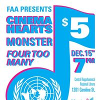 Girl Up Benefit Show Cinema Hearts Monster Four Too Many