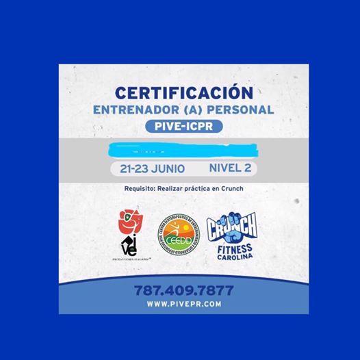 Cert Entrenador(a) Personal Nivel 2 PIVE-ICPR