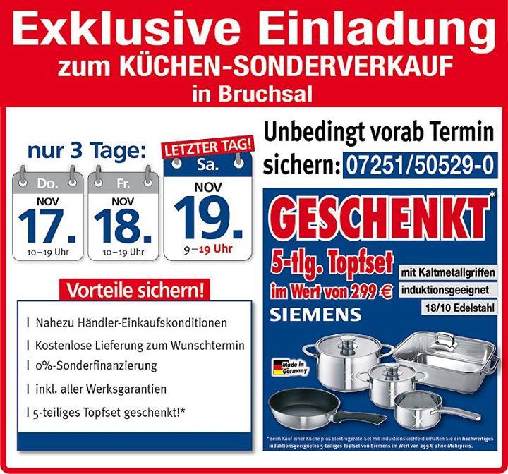 Küchen-Sonderverkauf Mega Küchen Bruchsal At Kammerforststraße 3
