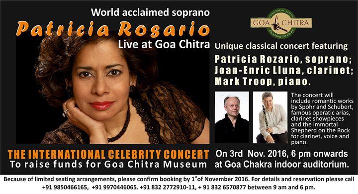 World acclaimed Soprano Patricia Rosario Live at Goa Chitra