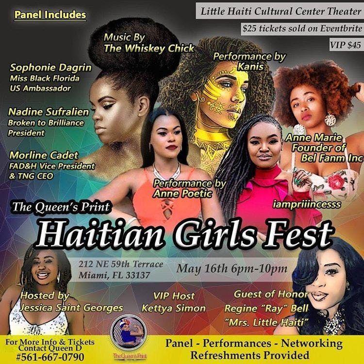 Haitian Girls Fest at Little Haiti Cultural Center, Miami