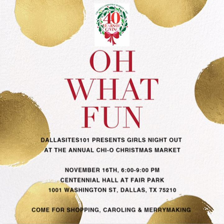 girls night out at the annual chi omega christmas market - Chi Omega Christmas Market