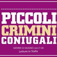 Letture in Stalla  Piccoli Crimini Coniugali