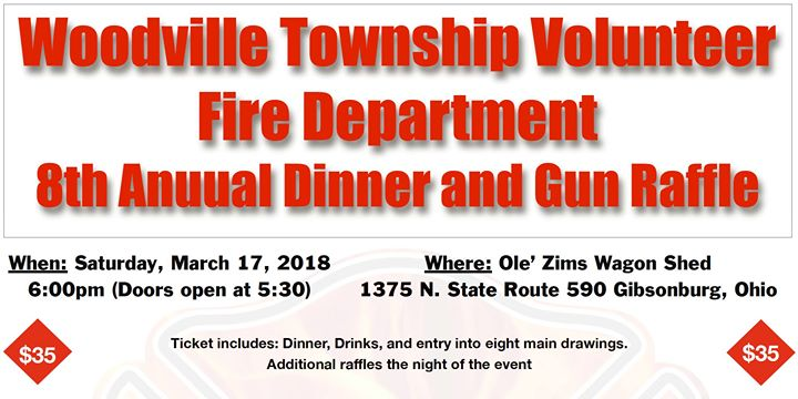 8th Anuual Dinner and Gun Raffle at Ole Zim's Wagon Shed, LLC