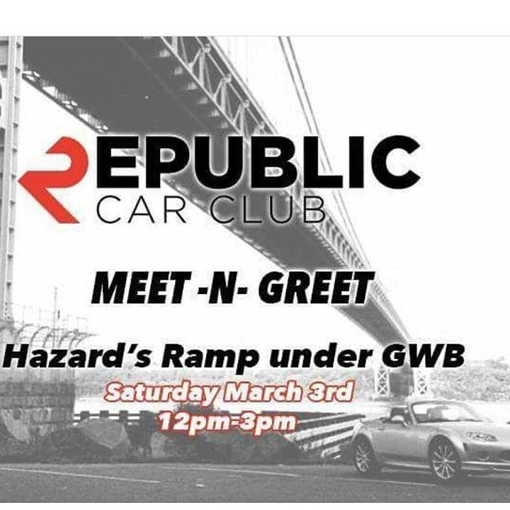 Republic Car Club Meet-N-Greet at Henry Hudson Dr, Fort Lee