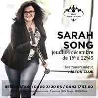 Sarah Song en concert  L Aston Club