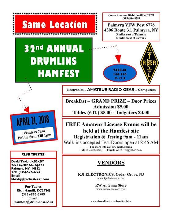 Drumlins Hamfest 2018