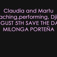 Claudia and Martu in San Pedro Save the date