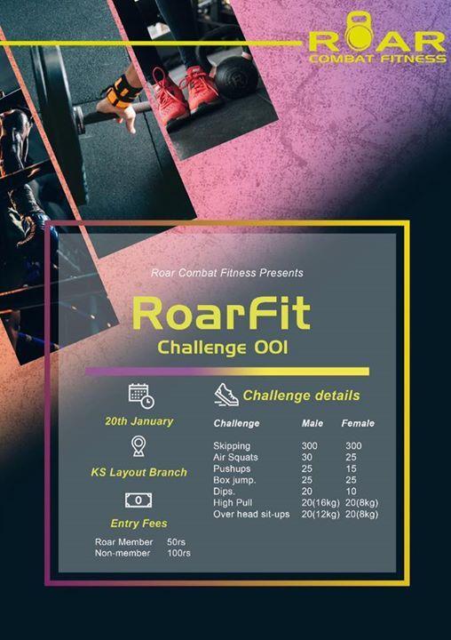 RoarFit Challenge -001 at ROAR Combat Fitness3rd floor