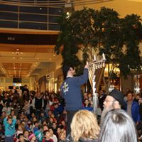 Giant Hanukkah Book Menorah Lighting