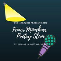 Unimagazine pres Feiner Mnchner Poetry Slam