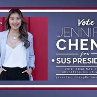 Vote Jennifer Cheng for SUS President