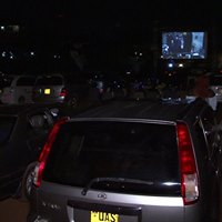 3d silent drive-in movie