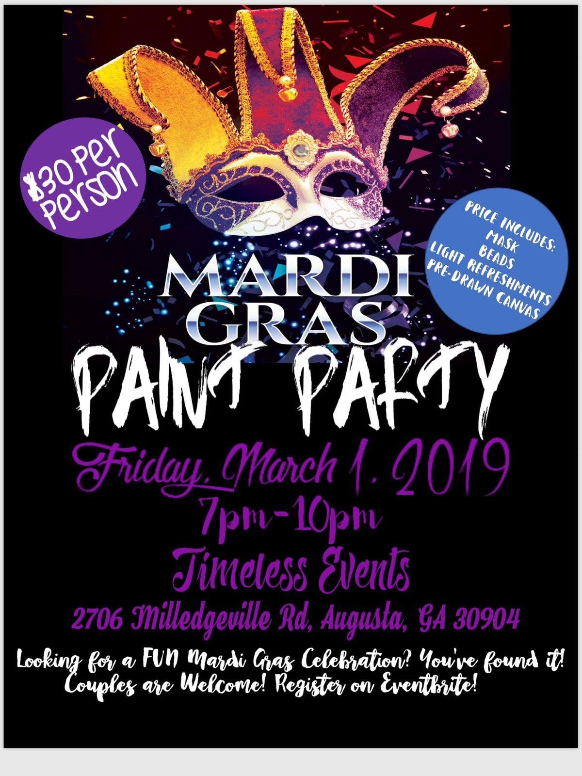 Mardis Gras Paint Party