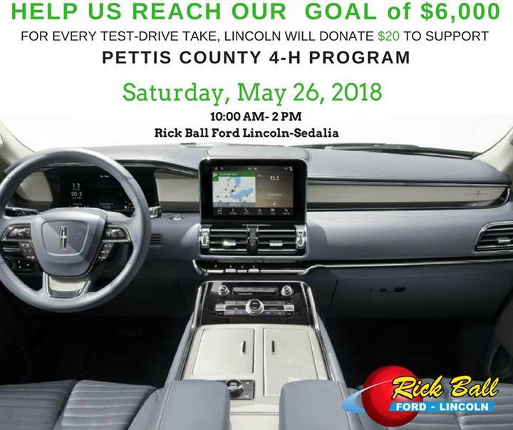 Rick Ball Ford >> Rick Ball Ford Lincoln Sedalia Test Drive Fundraiser Sedalia