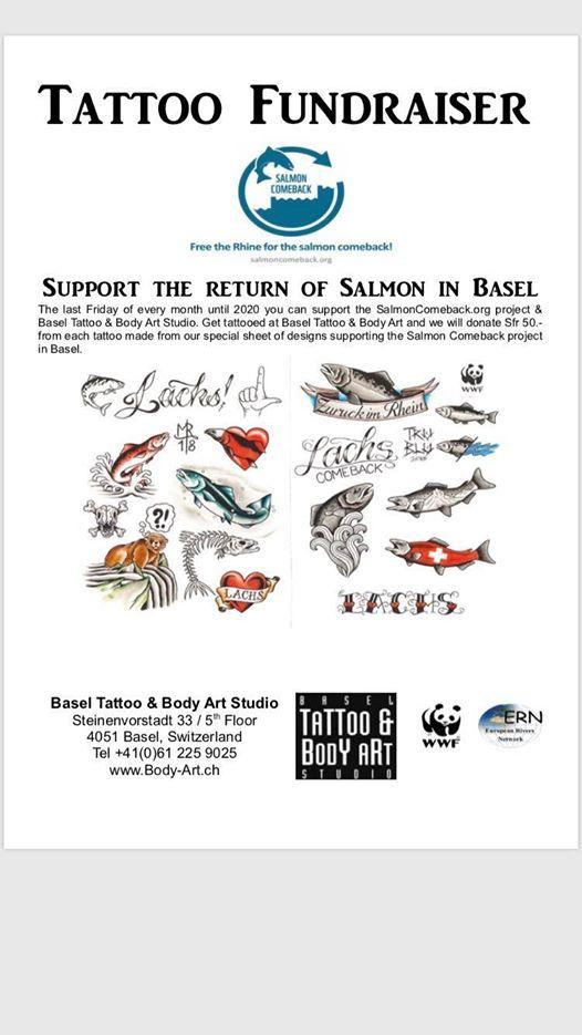 Tattoo Fundraiser Salmon Comeback At Basel Tattoo Body Art Basel