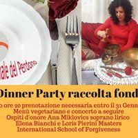 Dinner Party raccolta fondi Giornata Internazionale del Perdono