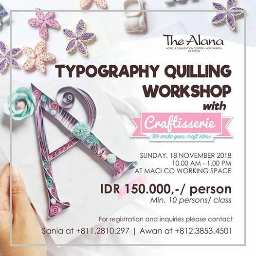 Typography Quilling Workshop
