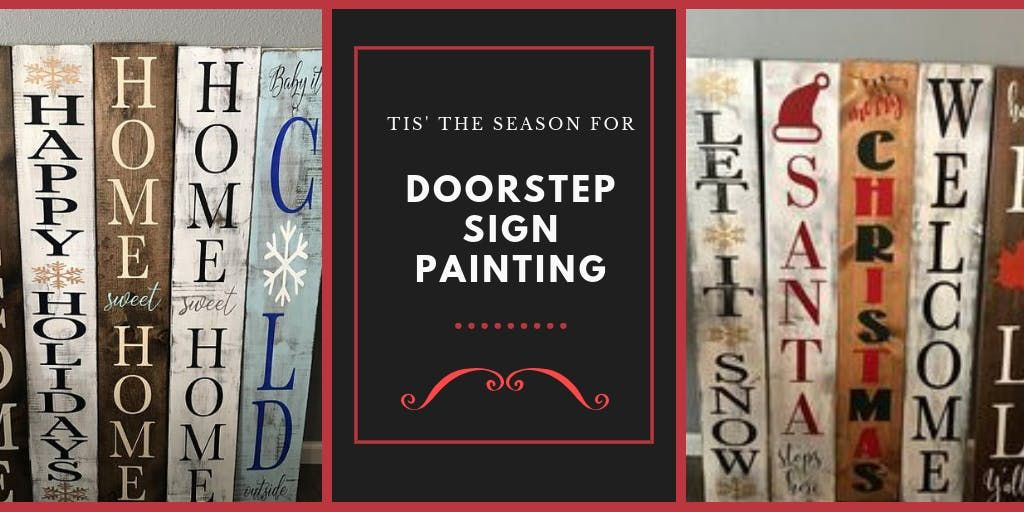 Doorstep Christmas Sign Painting