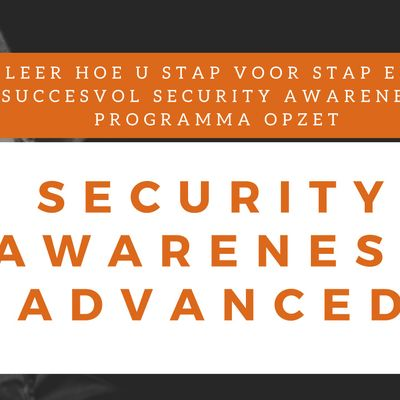 Security Awareness Advanced Klassikale Training (Nederlands)