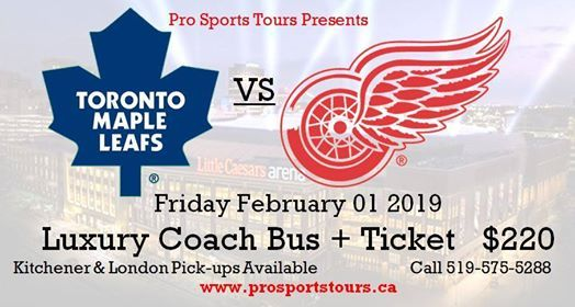 Toronto Maple Leafs at Detroit Red Wings Bus Trip