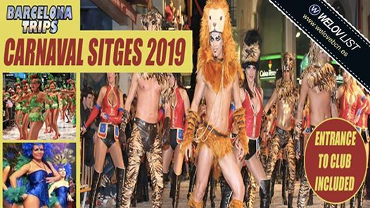 Sun(3 March) Carnaval Sitges 2019 with Barcelona Trips