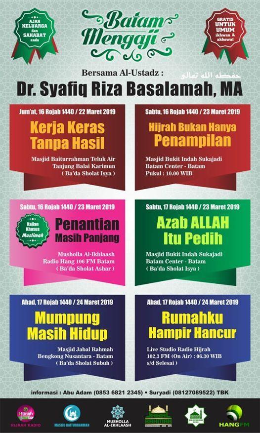 Batam Mengaji - Ustadz Syafiq Riza Basalamah MA